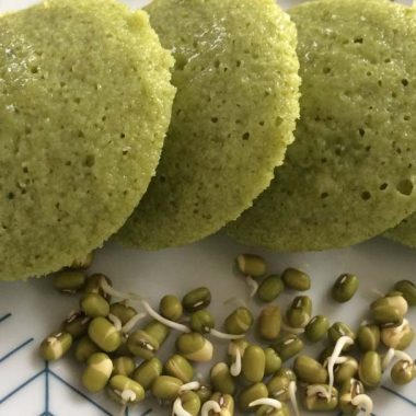 Sprouted Moong Beans Idlis